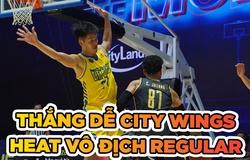 Thắng dễ City Wings, Saigon Heat chính thức vô địch Regular VBA 2020