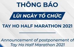 Giải chạy bán marathon quanh Hồ Tây 2021 bị hoãn vì COVID-19