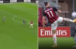 Ibrahimovic thực hiện đường chuyền ảo diệu theo phong cách kungfu