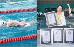 Cô gái khuyết tật mê Michael Phelps lập 4 kỷ lục thế giới Guinness
