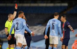 Xem Di Maria nóng nảy nhận thẻ đỏ ở trận Man City vs PSG