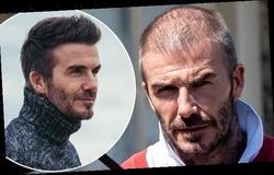 David Beckham gây sốc với mái đầu hói lưa thưa tóc