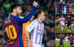 Messi đạt cột mốc ghi bàn ngoạn mục và những điểm nhấn từ trận Barca - Valladolid