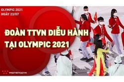 Cận cảnh Đoàn thể thao Việt Nam diễu hành tại lễ khai mạc Olympic Tokyo 2021