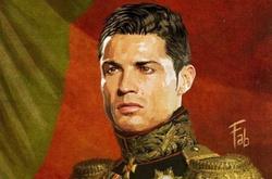 Ronaldo và loạt sao hóa tướng quân dưới nét vẽ nghệ thuật