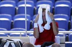 Các sao tennis dự Olympic bực bội với cái máy làm lạnh