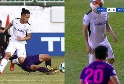 Cấm thi đấu 2 trận với hành vi bạo lực, ném bóng vào mặt đối phương của cầu thủ Sài Gòn FC