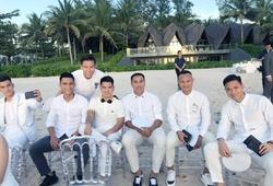 Dàn nam thần bóng đá Việt lên đồ cực chất ngày cưới Công Phượng tại Phú Quốc