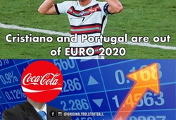 Ảnh chế: Ronaldo chia tay EURO, cổ phiếu Coca-cola tăng chóng mặt