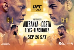 Tường thuật Trực tiếp UFC 253: Israel Adesanya vs Paulo Costa