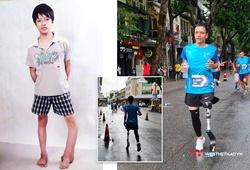 Chàng trai cụt chân vì mọt xương nỗ lực hoàn thành đường chạy 10km