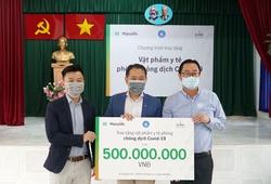 Ban tổ chức giải marathon ở Đà Nẵng và Manulife Việt Nam quyên góp 500 triệu cho tuyến đầu chống dịch