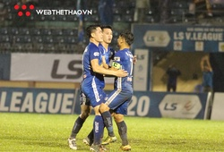 Quảng Nam thắng Nam Định trong trận đấu có 2 thẻ đỏ