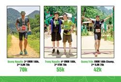 Căng thẳng cuộc đua của các elite nam tại giải chạy đường mòn Pù Luông