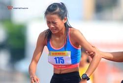 Cô gái HCĐ duathlon SEA Games ngã quỵ, bật khóc tại Giải điền kinh TP.HCM mở rộng 2020