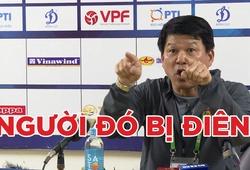 HLV Vũ Tiến Thành phản ứng dữ dội trong buổi họp báo sau trận thua trước CLB Hà Nội