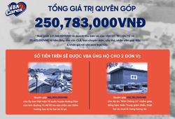 VBA công bố số tiền quyên góp ủng hộ đồng bào miền Trung lũ lụt