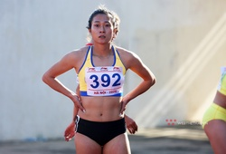 """""""Nữ hoàng tốc độ"""" Lê Tú Chinh vượt thành tích chạy 100m HCV SEA Games 30"""