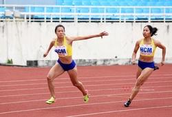 Lê Tú Chinh bứt tốc chóng mặt giúp TP.HCM phá KLQG chạy 4x100m tiếp sức hỗn hợp
