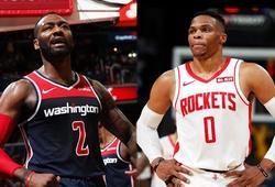 Rockets đàm phán với Wizards để Russell Westbrook đổi ngang với John Wall?