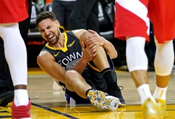 Klay Thompson dính chấn thương trong khi tập, Golden State thấp thỏm lo âu