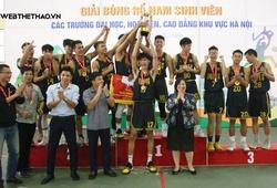 Chặn cú hat-trick Vàng của Xây Dựng, Sư Phạm TDTT Vô địch Giải Bóng rổ nam SV HN 2020