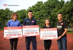 Nguyễn Thị Oanh và anh em nhà họ Quách nhận quà đặc biệt từ Webthethao