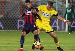 Nhận định Udinese vs Crotone, 00h30 ngày 16/12, VĐQG Italia