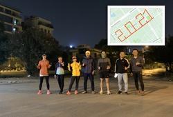 """Nhóm chạy Hà Nội """"count down"""" đón năm mới, """"múa chân vẽ số"""" 2021 kỳ công"""