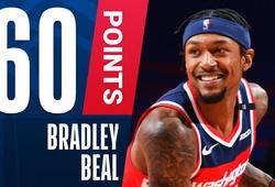 Bradley Beal ghi 60 điểm vẫn không gánh nổi Washington Wizards