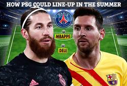 PSG có thể xếp đội hình nào với Messi và Ramos?