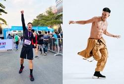 """Ca sĩ """"6 múi, siêu vũ đạo"""" Trọng Hiếu gây sốt khi chạy 21km sub2"""