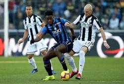 Kết quả Udinese vs Atalanta, video bóng đá Ý hôm nay 20/1