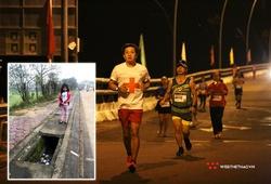 Marathoner Đoàn Ngọc Hải cảnh báo tai nạn chết người khi chạy bộ lúc trời tối, vỉa hè mất nắp cống