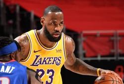 Thua Detroit Pistons, LA Lakers mất ngôi đầu bảng miền Tây