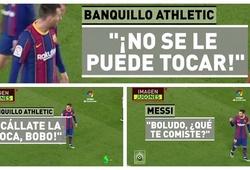 Messi đáp trả khi bị đối thủ mắng câm miệng ngay trên sân