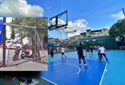 Đóng cửa để chống dịch, sân bóng rổ tại Hà Nội bị phá hoại