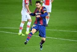 """Messi """"ăn đứt"""" Ronaldo về số bàn thắng kết hợp trong sự nghiệp"""