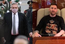 Messi cho Tổng thống Argentina thuê máy bay riêng