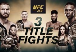 Lịch thi đấu UFC 259: Blachowicz vs. Adesanya - 5h00 sáng 7/3