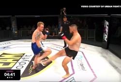 """Nhà vô địch MMA người Úc đá gãy chân đối thủ bằng đòn """"chặt trụ"""" chỉ sau 24 giây"""