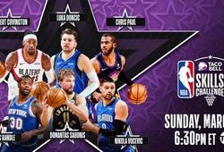 TRỰC TIẾP bóng rổ NBA All-Star 2021: Luka Doncic, Chris Paul thi Skills Challenge