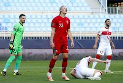 Haaland gây thất vọng với phong độ trái ngược ở Dortmund với đội tuyển Na Uy