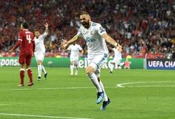 Benzema có thể bắt kịp Raul ở Champions League trước Liverpool