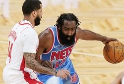 """James Harden dính chấn thương: Brooklyn Nets lo lắng cho cả """"thần râu"""" và Kevin Durant"""