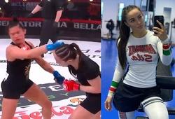 Mĩ nhân làng võ Diana Avsaragova ra mắt Bellator với cú knockout 29 giây