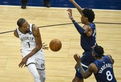 Kevin Durant ném kiểu gì cũng có điểm, Nets dội cơn mưa 3 điểm vào rổ Timberwolves