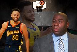 Huyền thoại Magic Johnson ủng hộ Steph Curry giành danh hiệu MVP