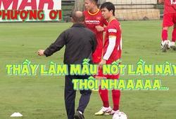 Đội tuyển Việt Nam đội mưa luyện công, thầy Park tỉ mỉ nắn Công Phượng