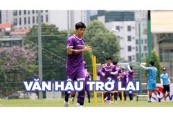 Văn Hậu trở lại tập luyện cùng ĐT Việt Nam